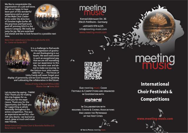meeting music | International Choir Festivals and